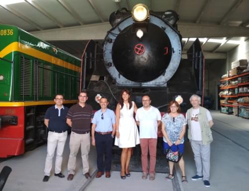 La consellera de Cultura visita el Museu del Ferrocarril