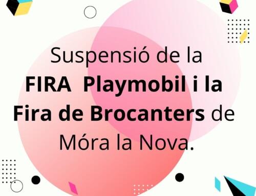 Suspensió Fira Playmobil i Fira de Brocanters