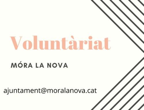 Crida a persones voluntàries de Móra la Nova