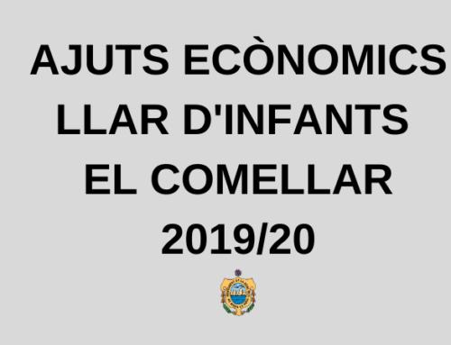 Ajuts Econòmics Llar d'Infants 2019/2020