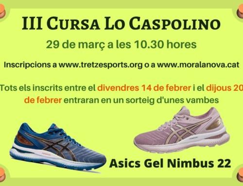 Inscripcions III Cursa Lo Caspolino